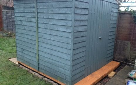 7ft x 7ft Shed Base Review - Shed Finished