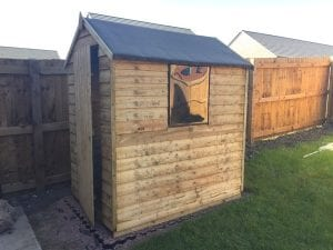 6ft x 4ft Plastic Shed Base Install - Completed