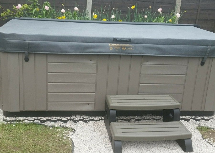 8ft x 8ft Hot Tub Base Install Featured Image