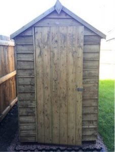 6ft x 4ft Plastic Shed Base Install - Finished Shed