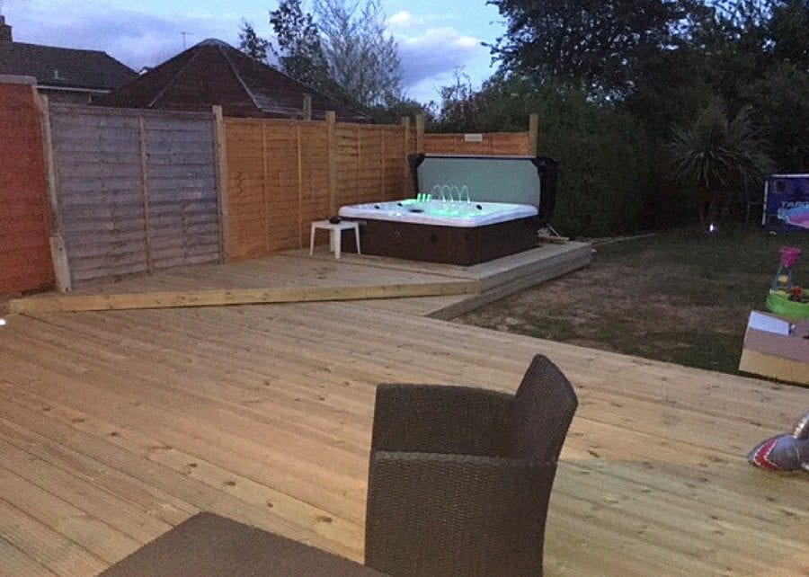 7ft x 7ft Hot Tub Base - Customer Review Featured Image