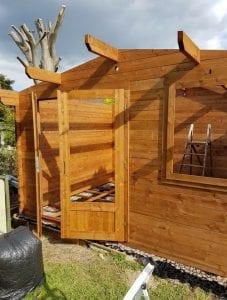 10x8 Log Cabin Base - Building Cabin
