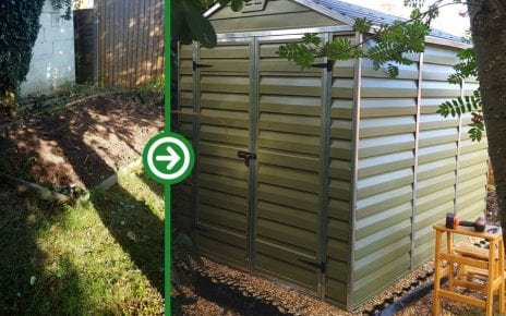8ft x 6ft Metal Shed Base Installation - Featured Image