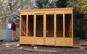 10ft x 8ft Plastic Summerhouse Base Installing Doors