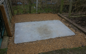 Greenhouse Base Extension Gravelled