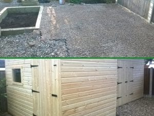 Two Plastic Shed Base Installations - Conclusion
