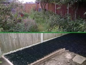 Two Plastic Shed Base Installations - Projects