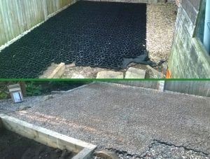 Two Plastic Shed Base Installations - Work