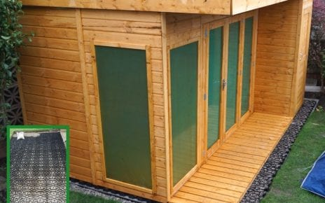 12ft x 8ft Summerhouse Shed Installation Featured Image