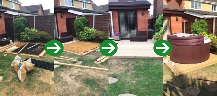 6ft x 4ft Plastic Shed Base Under Decking And Hot Tub Featured Image