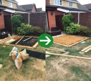 6ft x 4ft Plastic Shed Base Under Decking And Hot Tub Work
