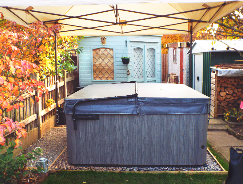7ft x 7ft Hot Tub Base Under An Artesian Spa Hot Tub - Featured Image