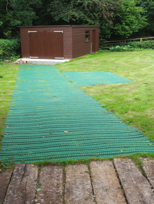 Grass Reinforcement Mesh to Shed Work