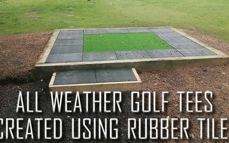 Rubber Tiles Used To Create All Weather Tee