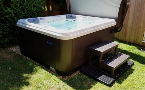 7ft x 7ft Hot Tub Base Installed Under A Riptide Hot Tub - Featured Image