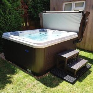7ft x 7ft Hot Tub Base Installed Under A Riptide Hot Tub - Hot Tub Installed