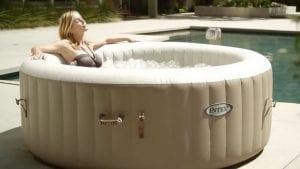Intex Hot Tub In Use