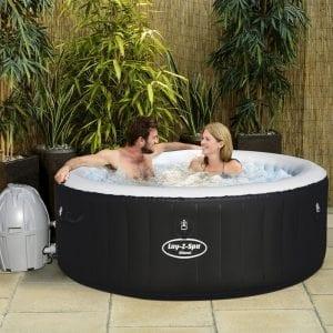 LayzSpa Hot Tub In Use
