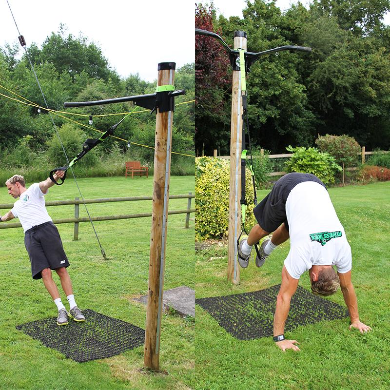 Rubber Grass Mats Under Fitness Tree - Image 1