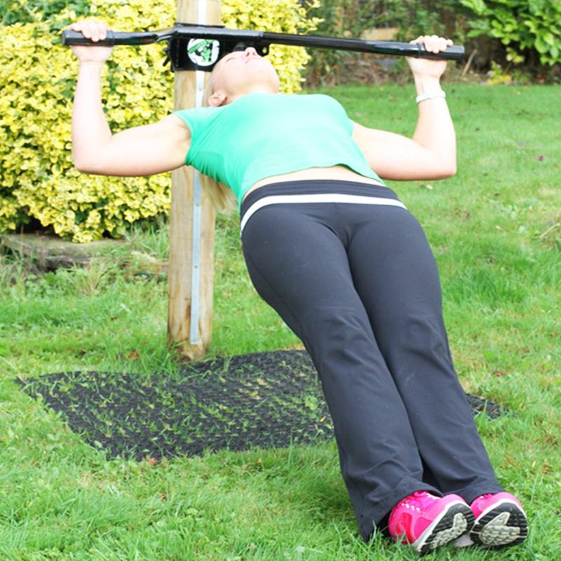 Rubber Grass Mats Under Fitness Tree - Image 3