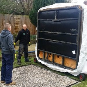 7ft x 7ft Hot Tub Base - Hot Tub Being Installed