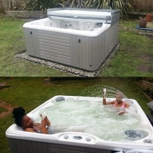 7ft x 7ft Hot Tub Base - Hot Tub Installed