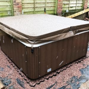 6ft x 6ft Hot Tub Base Install - Hot Tub Installed