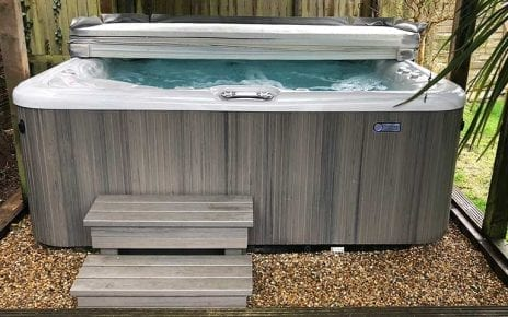 8ft x 8ft Hot Tub Base Installation - Featured Image
