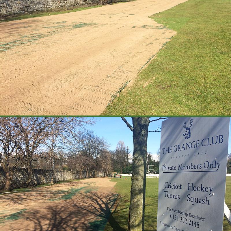 Grange Sports Club - TurfMesh Covered In Sand