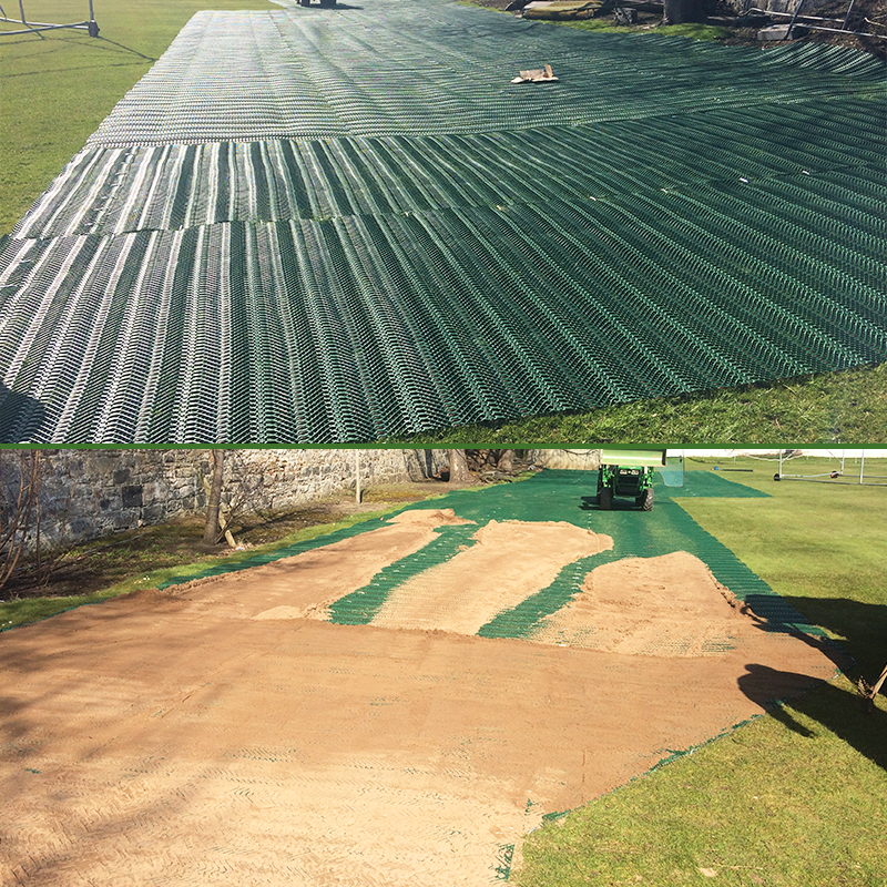 Grange Sports Club - TurfMesh Installed and Covered