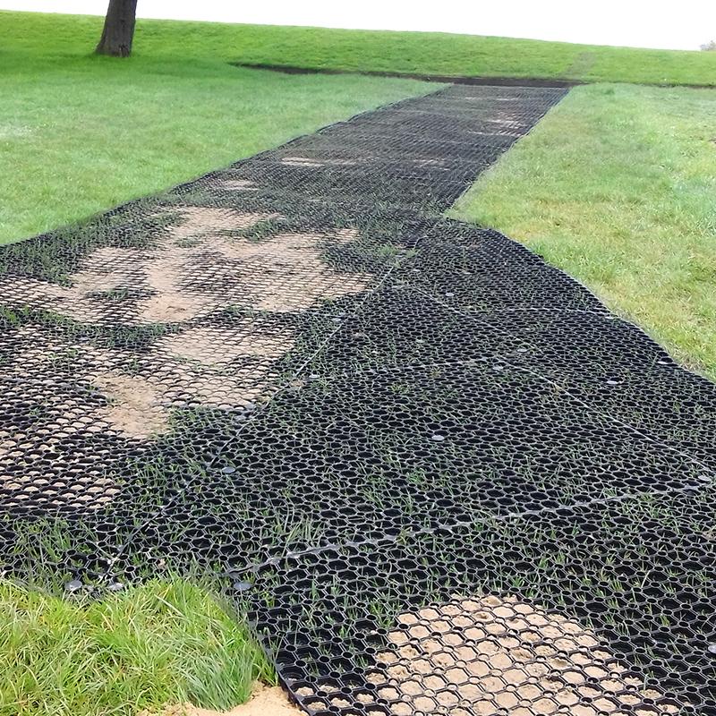 Lancaster Golf Club's Rubber Grass Mats Path - Installing Grass Mats