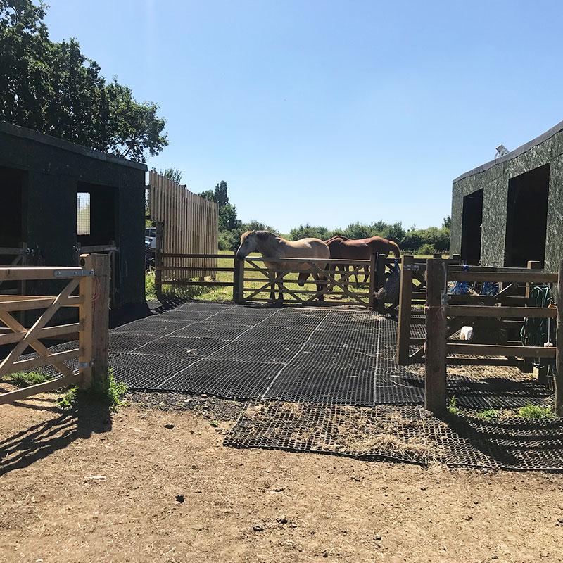 Rubber Grass Mats In Horse Paddock - Through The Gate