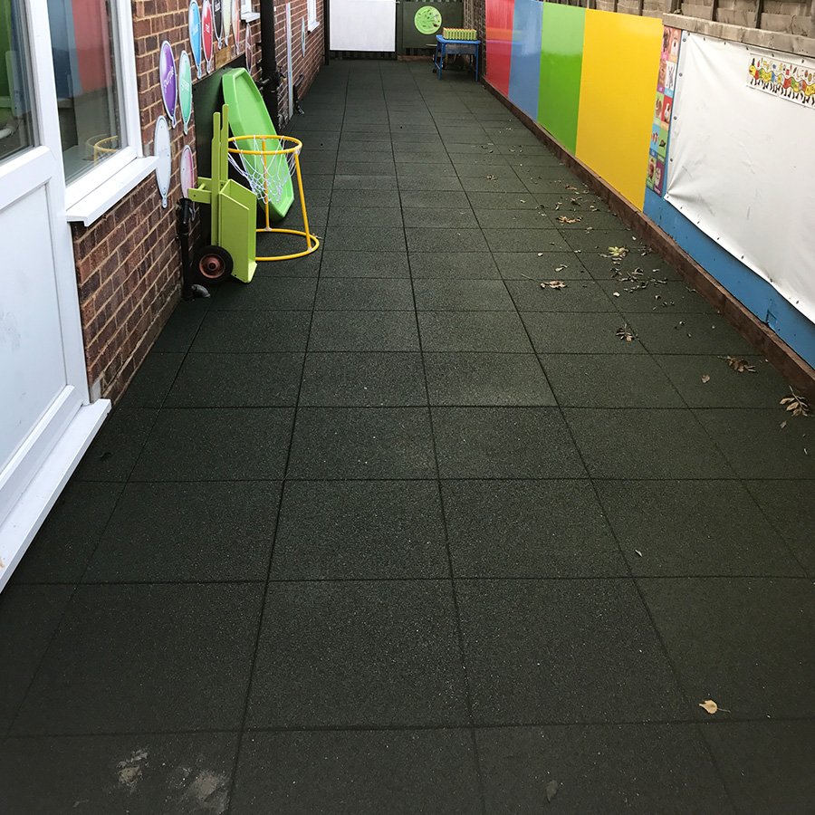 Using Rubber Play Tiles To Create A Safe Play & Learning Area - Installing