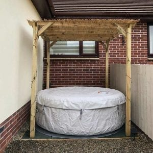 Inflatable Hot Tub Base Under Lay-Z-Spa - Hot Tub In Place