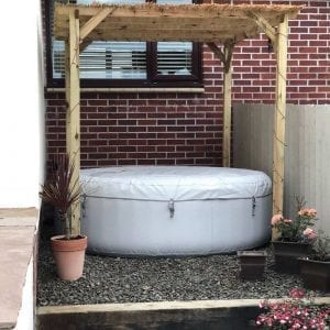 Inflatable Hot Tub Base Under Lay-Z-Spa - Installation Complete