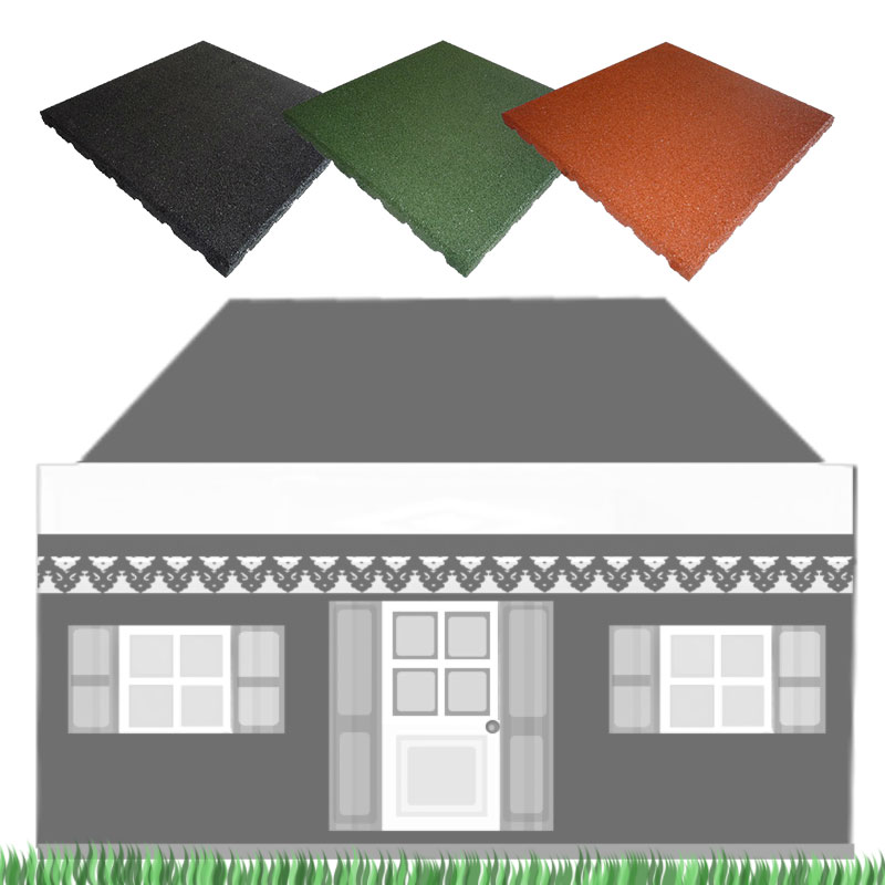 New Rubber Roof Tiles