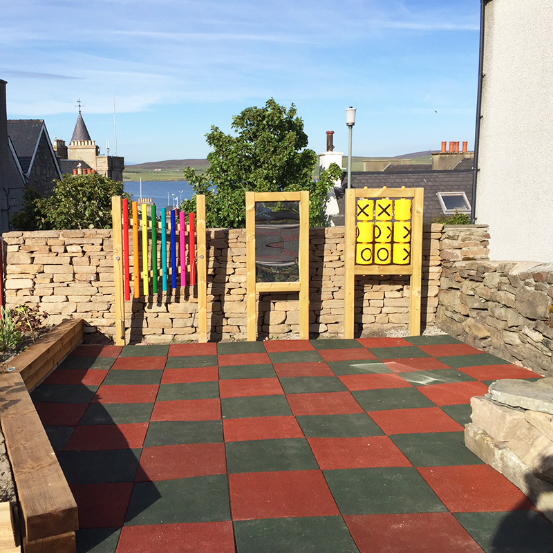 Rubber Tiles Used To Create Sensory Play Area - Finished Project