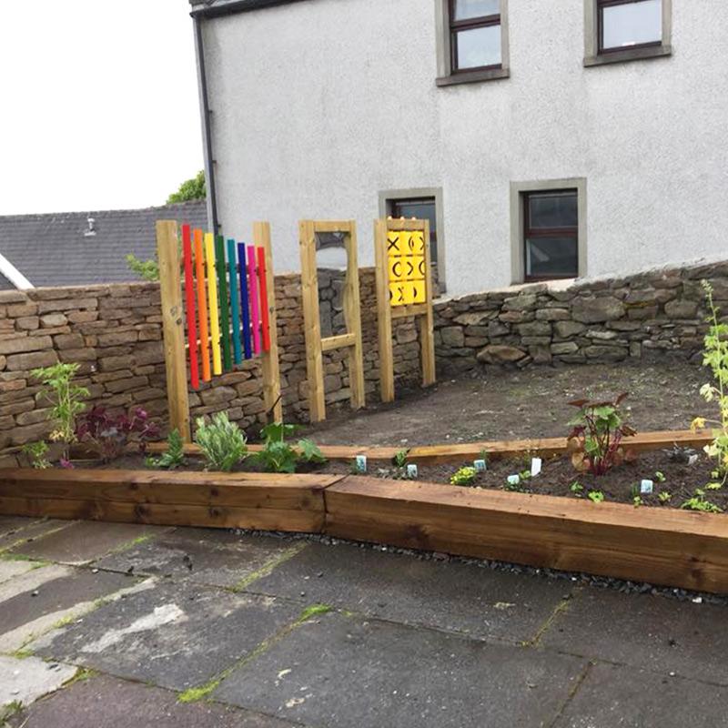 Rubber Tiles Used To Create Sensory Play Area -Play Equipment Installed 3
