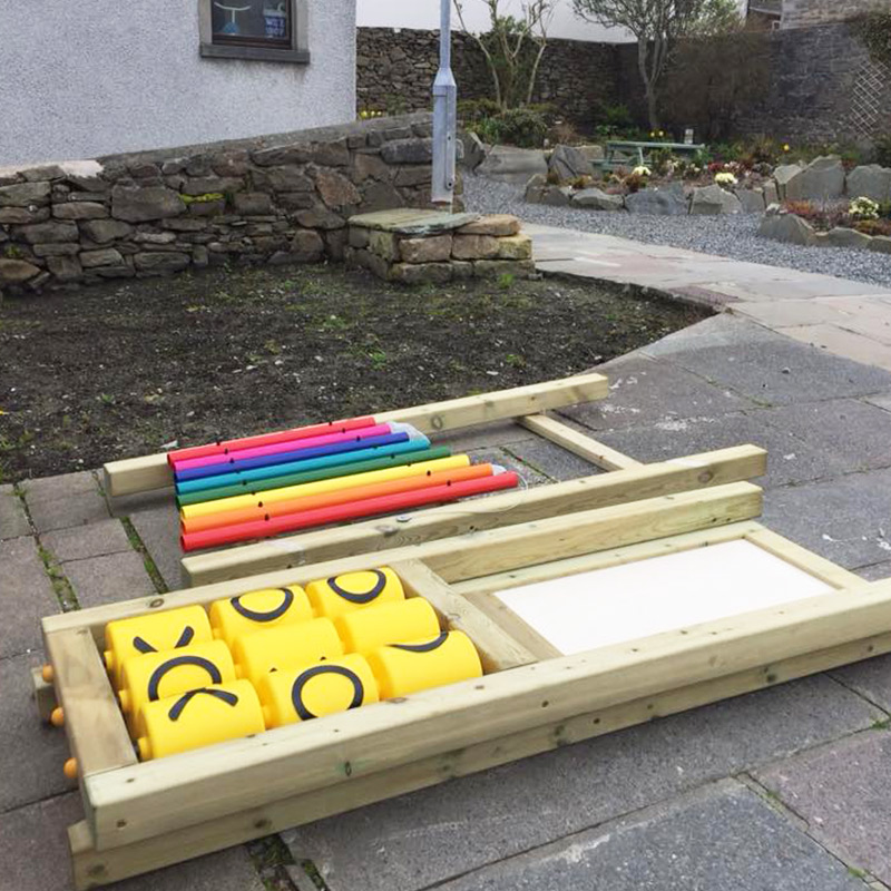 Rubber Tiles Used To Create Sensory Play Area - Play Equipment