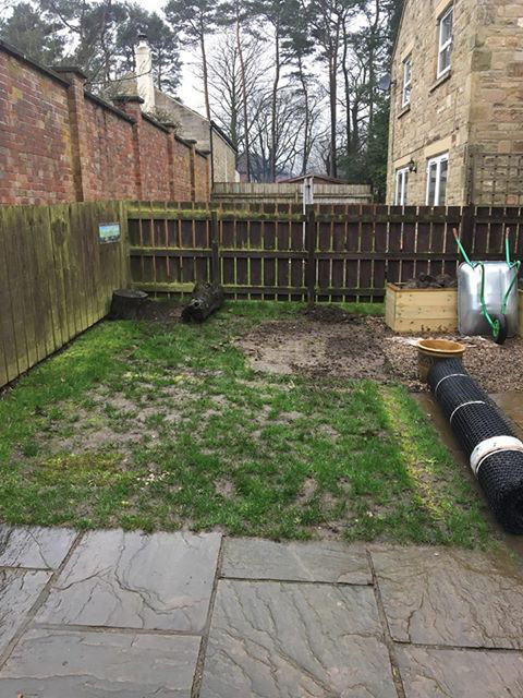 Grass Protection Mesh & Plastic Edging Used On Back Garden - Image 1