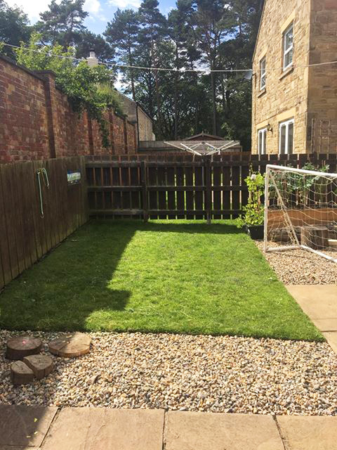 Grass Protection Mesh & Plastic Edging Used On Back Garden - Image 2