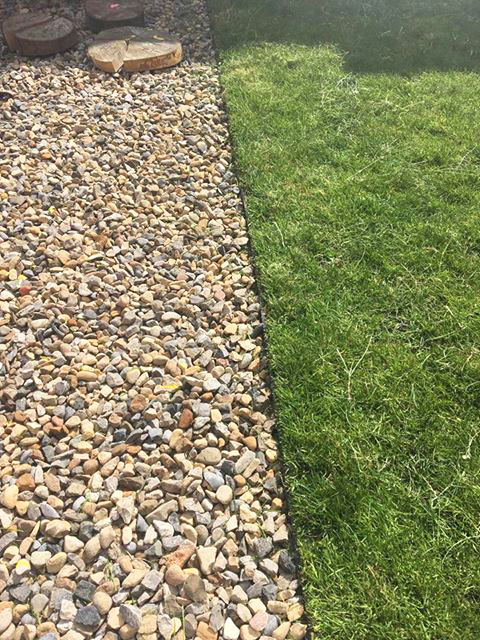 Grass Protection Mesh & Plastic Edging Used On Back Garden - Image 3