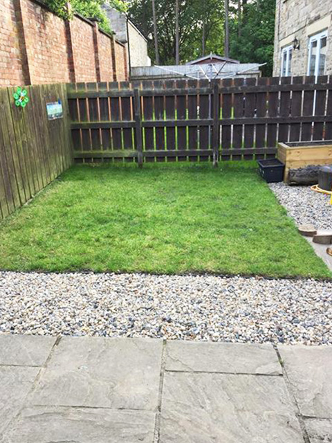 Grass Protection Mesh & Plastic Edging Used On Back Garden - Image 4