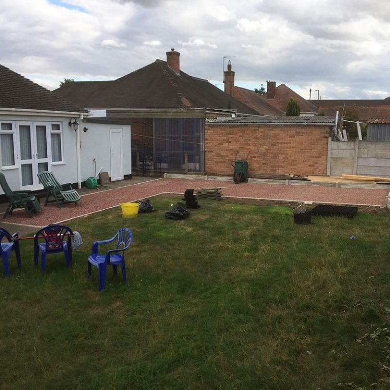 50m² X-Grid Gravel Patio - Finished Patio