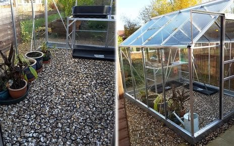 Greenhouse Base Installed and Up close