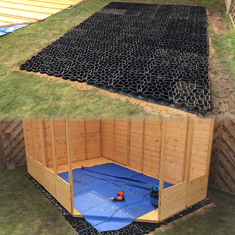Black X-Grid Shed Base
