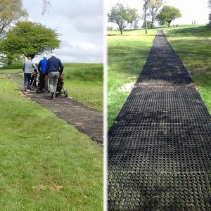 Rubber-Grass-Mats-Used-At-Golf-Club