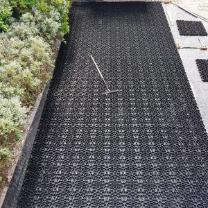 56m² X-Grid Gravel Driveway - Grid Laid