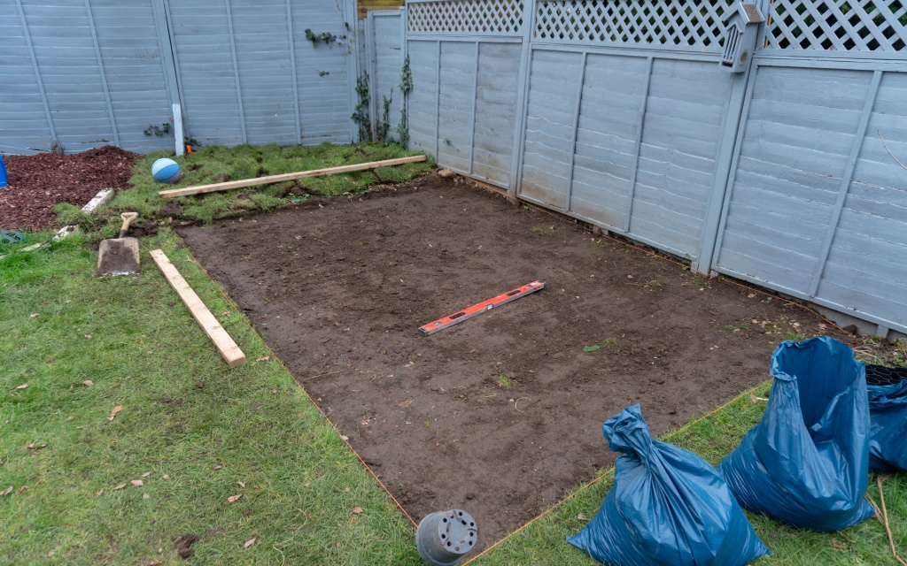 5.-Plastic-Shed-Base-Installation-Ground-Levelled