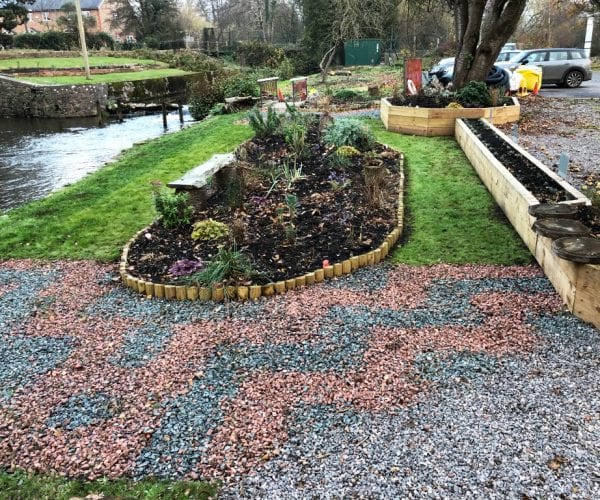 Completed X-Grid Sensory Garden - Image From Other Side